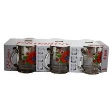 Набір чайних кружок 300мл 6 предметів Цвіт маку