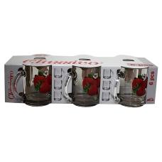 Набір чайних кружок 300мл 6 предметів Клубніка