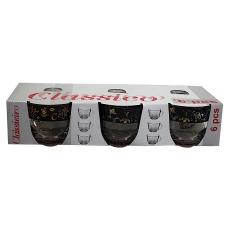 Набір чашок Гламур 200мл 6 предметів Кава Чорна