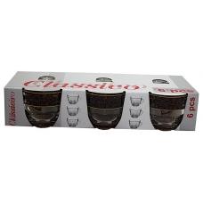 Набір чашок Гламур 200мл 6 предметів Кава Коричнева