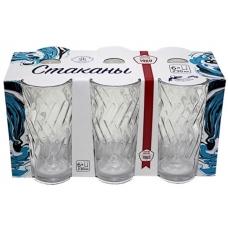 Набір стаканів Етюд Високий 200мл Прозорий