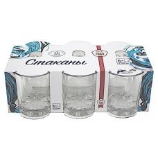 Набір стаканів 250мл Глорія низький Прозорий