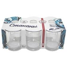 Набір стаканів 250мл Гладкий низький Прозорий