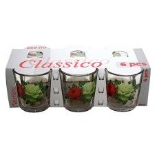 Набір стаканів низький 250мл Букет троянд
