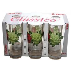 Набір стаканів Високий 200мл Букет троянд
