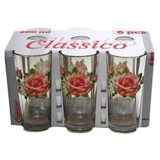 Набір стаканів Високий 200мл Троянда