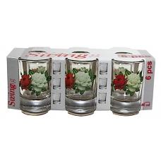 Набір стопок Гладкий 50мл Букет троянд