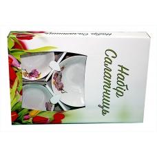 Набір салатників 5предметів (фарфор) Орхідея