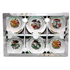 Набір салатників 6предметів (фарфор) Грибочки