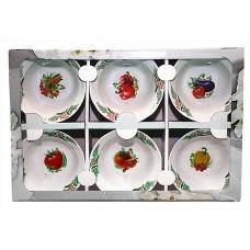 Набір салатників 6предметів (фарфор) Овочі