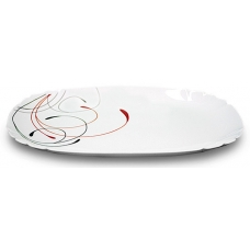 Блюдо овальне 34см Абстракція