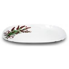 Тарілка 23см десертна квадрат Лаванда